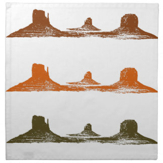 Monument Valley, 3 mountains, 3 colors Napkin