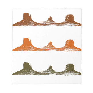 Monument Valley, 3 mountains, 3 colors Notepad