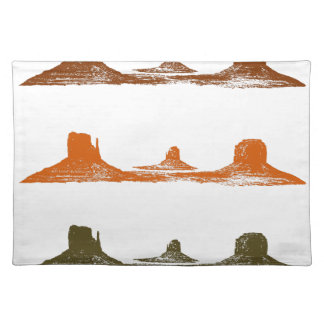 Monument Valley, 3 mountains, 3 colors Placemat