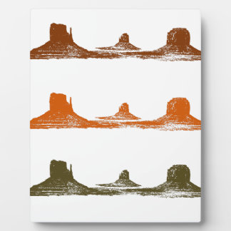 Monument Valley, 3 mountains, 3 colors Plaque