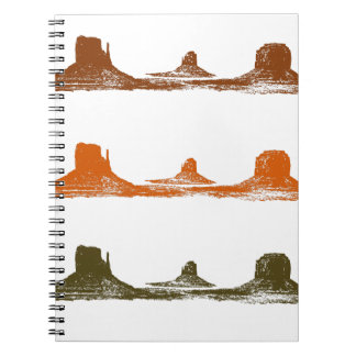 Monument Valley, 3 mountains, 3 colors Spiral Notebook
