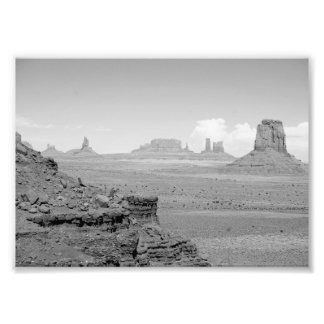 Monument Valley (black and white) 2 Photograph