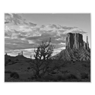Monument Valley (black and white) 3 Photographic Print