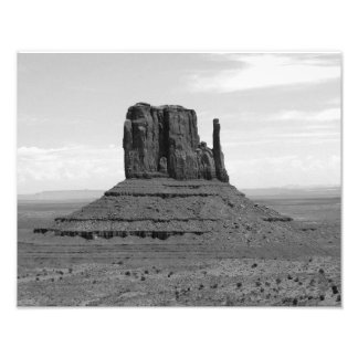 Monument Valley (black and white) Photo Print