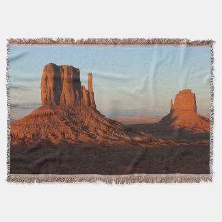 Monument valley,Colorado Throw Blanket