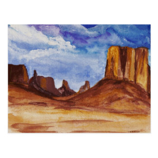 Monument Valley in watercolor Postcard