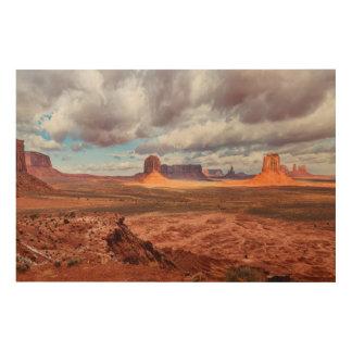 Monument valley landscape, AZ Wood Print