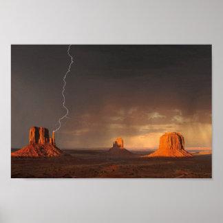 Monument Valley Lightening Poster