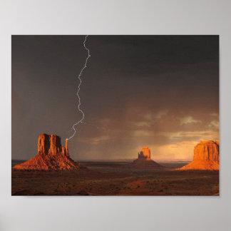 Monument Valley Lightning | Poster Print