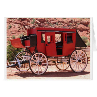 Monument Valley Red Wagon Greeting Card