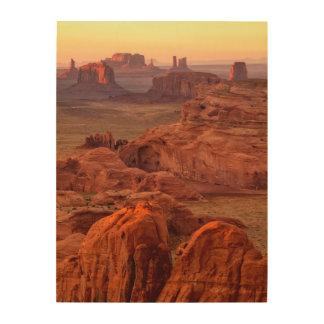 Monument valley scenic, Arizona Wood Prints