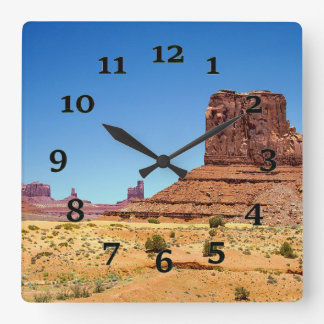 Monument Valley Square Wall Clock