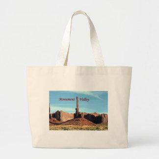 Monument Valley, Totem Pole, Utah, USA (caption) Canvas Bag