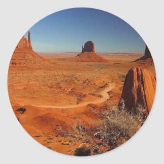 Monument Valley Towers Classic Round Sticker