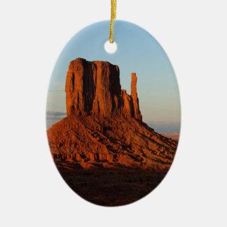 Monument Valley Utah Desert Rock Formation Ceramic Ornament