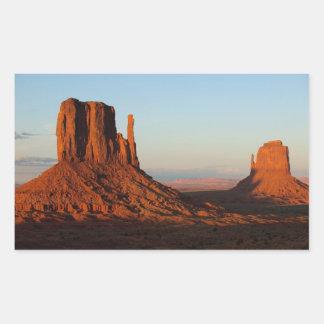 Monument Valley Utah Desert Rock Formation Rectangular Sticker