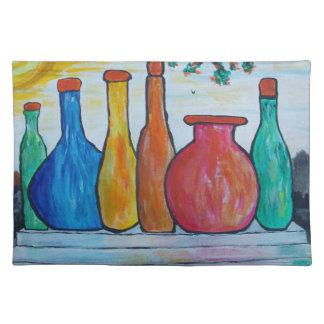 Monumental bottles placemat