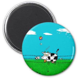 Moo 6 Cm Round Magnet