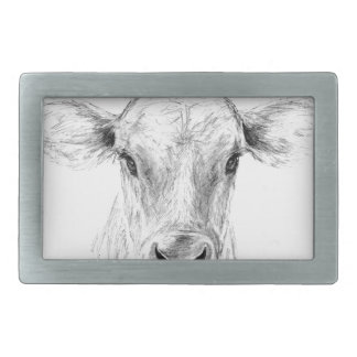 Moo A Young Jersey Cow Belt Buckle