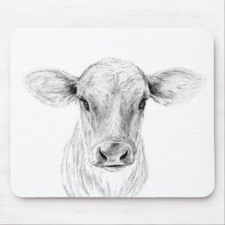 Moo A Young Jersey Cow Mouse Pad