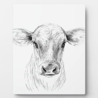 Moo A Young Jersey Cow Plaque