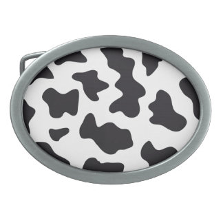 MOO Black and White Dairy Cow Pattern Print Gifts Belt Buckles