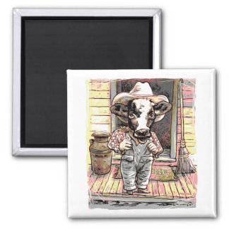 Moo Cow Boy by Mudge Magnet