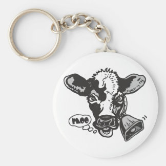 Moo Cow by Mudge Studios Basic Round Button Key Ring