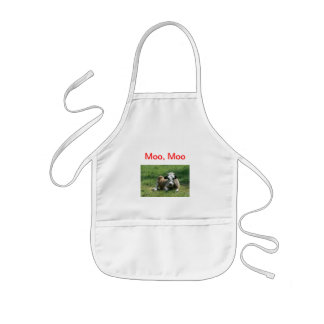 Moo cow child's apron