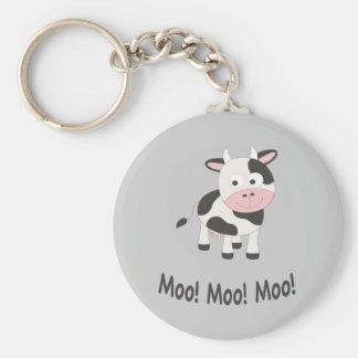 Moo cow key chain