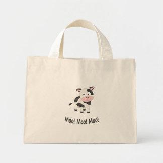 Moo cow mini tote bag