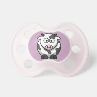Moo Cow on a Pale Purple Background Pacifiers