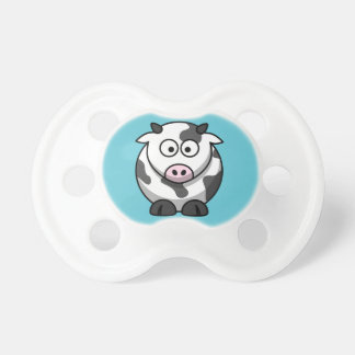 Moo Cow on an Aqua Background Baby Pacifier