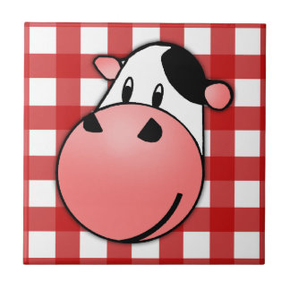 Moo Cow Small Square Tile