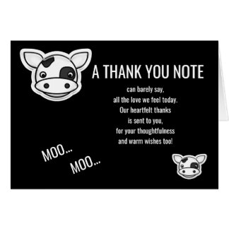 Moo Cow Thank You Card