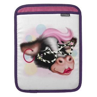 MOO FACE COW CARTOON iPad iPad Sleeve