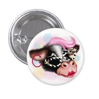 MOO FACE COW CARTOON Round Button