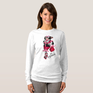 MOO FASHION Women's Champion Women's Basic Long Sl T-Shirt