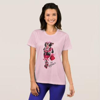 MOO FASHION Women's Champion Women's Sport-Tek Com T-Shirt