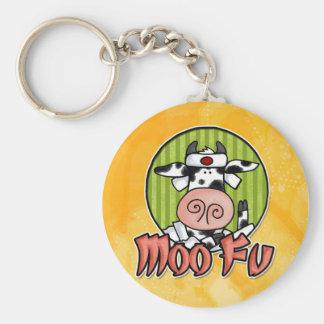 moo fu basic round button key ring