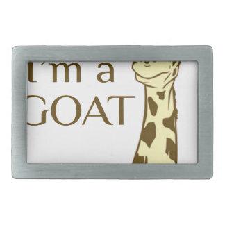 moo im a goat rectangular belt buckle