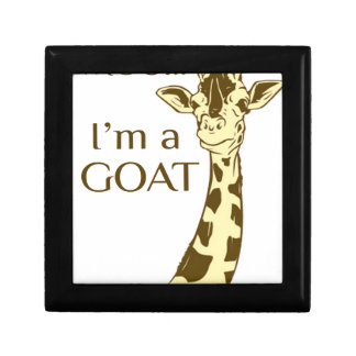moo im a goat small square gift box