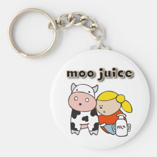Moo Juice Basic Round Button Key Ring