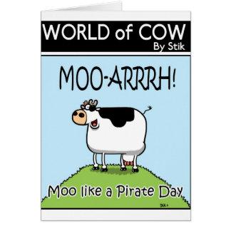 Moo like a Pirate Day Greeting Card