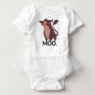 Moo, mean cow design baby bodysuit