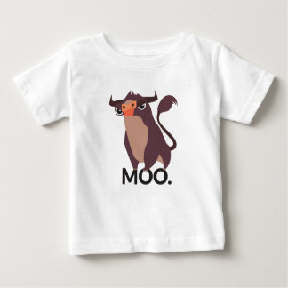Moo, mean cow design baby T-Shirt
