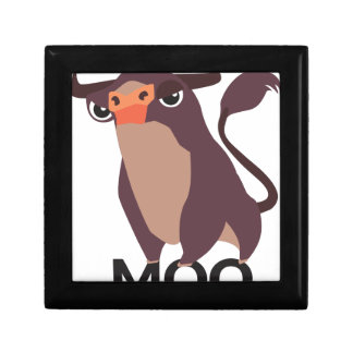 Moo, mean cow design gift box