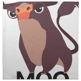 Moo, mean cow design napkin