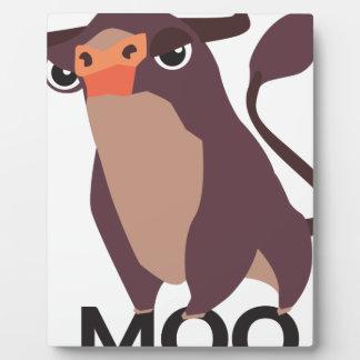 Moo, mean cow design plaque