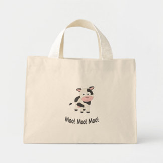 Moo! Moo! Moo! Cute Cow Mini Tote Bag